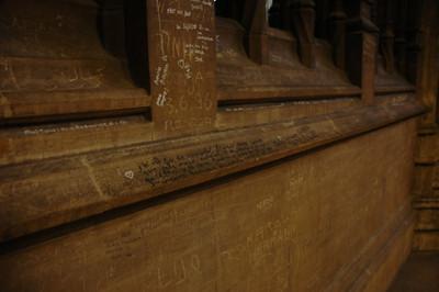 graffiti in cathedral
