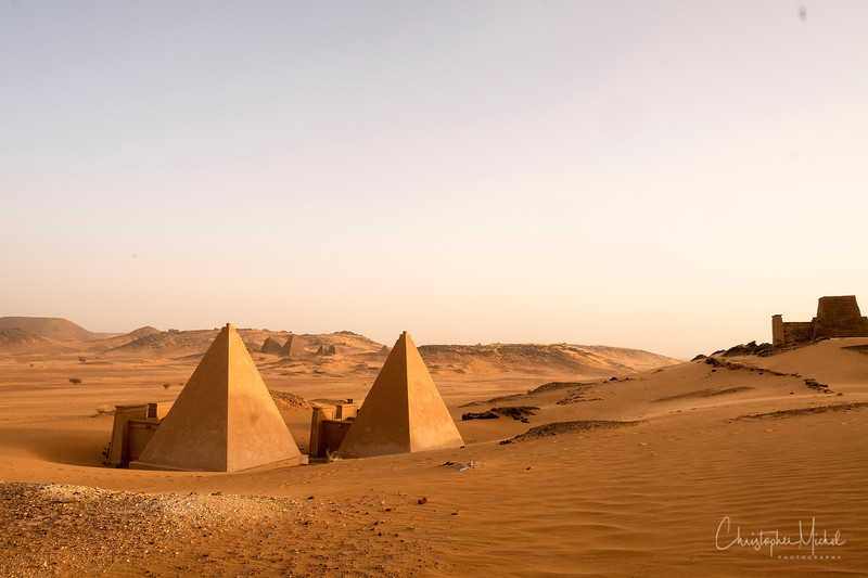 A few of the pyramids look new.  It's because they are reconstructed.