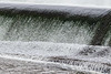 Water flowing over the Lott dam.