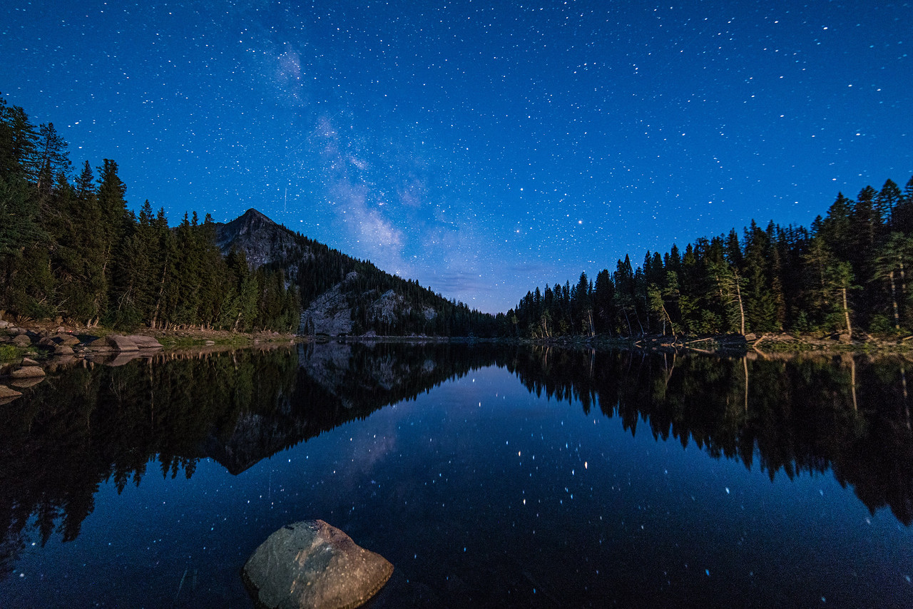Mirror Reflection At Louie Lake