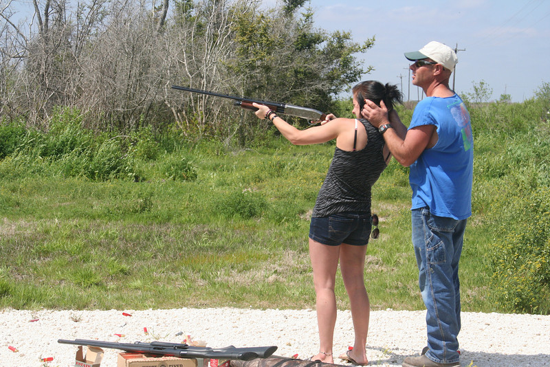 More father/daughter shotgun lessons