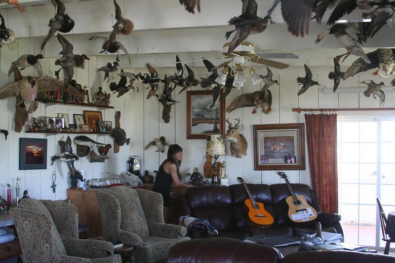 Sheryl in the living room - Hackberry Hilton