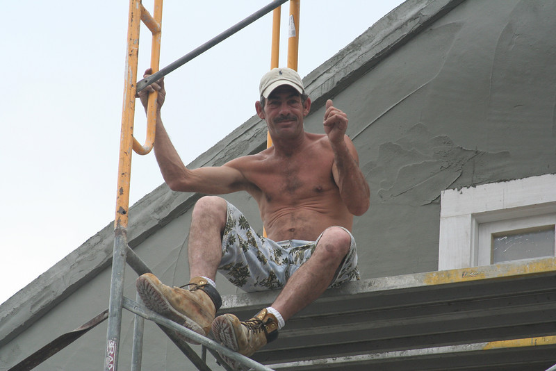 New Orleans - construction worker on Bourbon Street