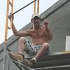 New Orleans - construction worker on Bourbon Street