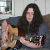Evan on guitar in Hackberry