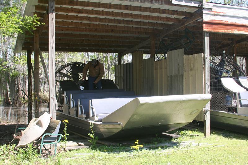 Junior Ponthieux's  Airboat