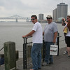 New Orleans - Sean and Jim on the levee