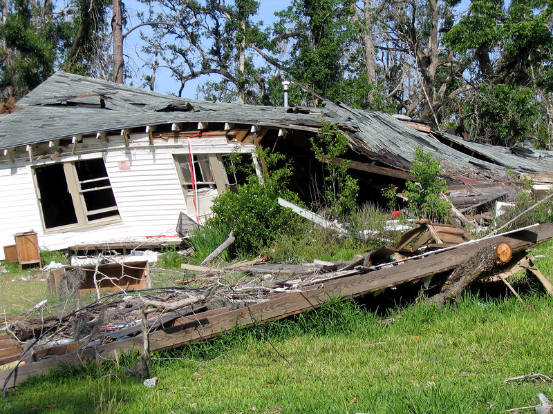 Home wreckage near Pearlington, MS.