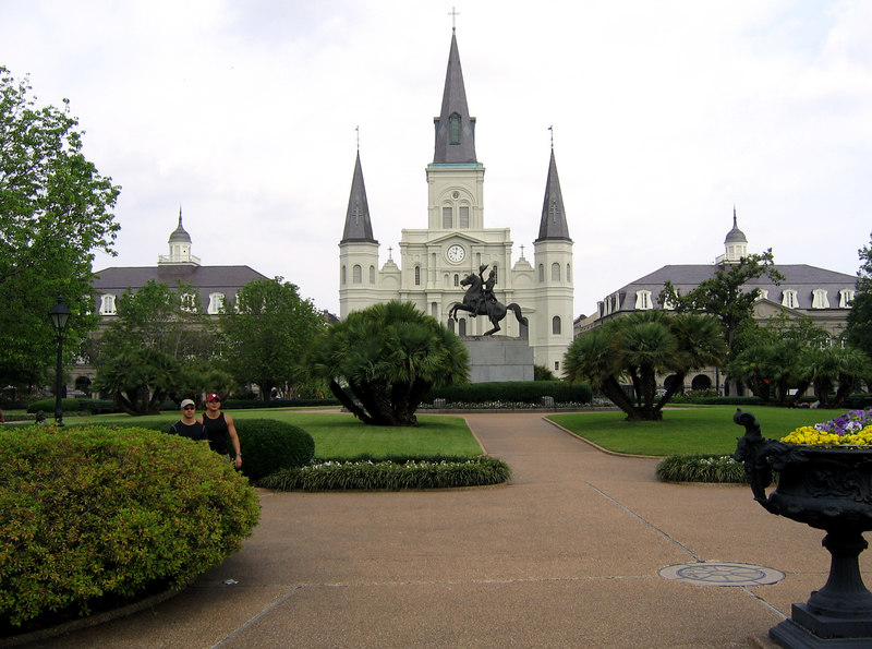 The French Quarter of New Orleans.