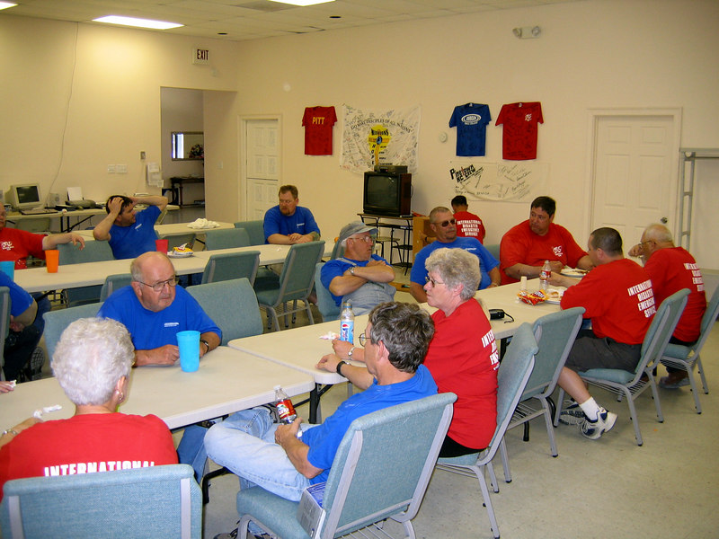 "Back at the Christian Church of Slidell, our ""home base"" for the week, we like to sit around and tell lies after meals."
