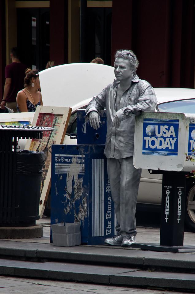 Street performer in Jackson Square