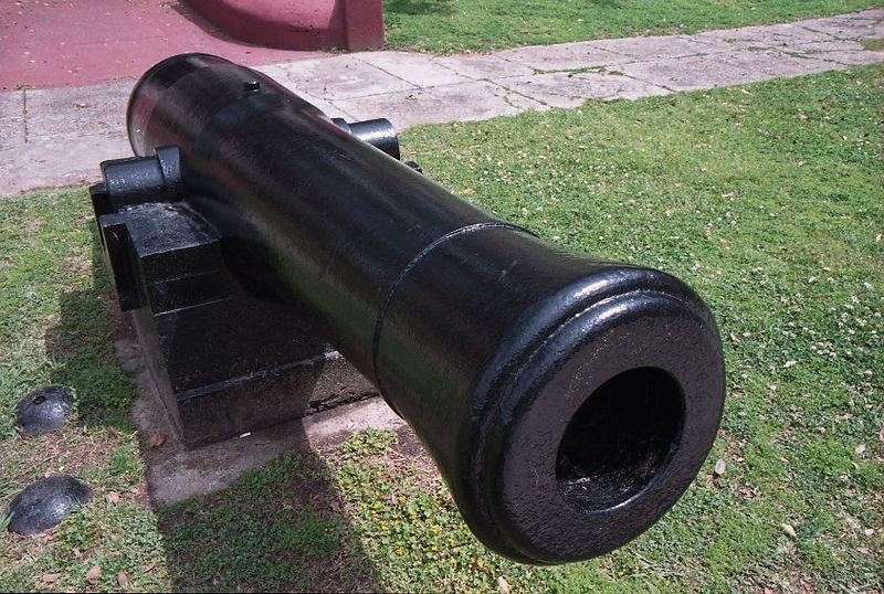 Canon at Fort Jackson on Mississippi River in Louisiana