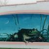 Frog Murals on Town Buildings in Rayne, LA  3-7-00