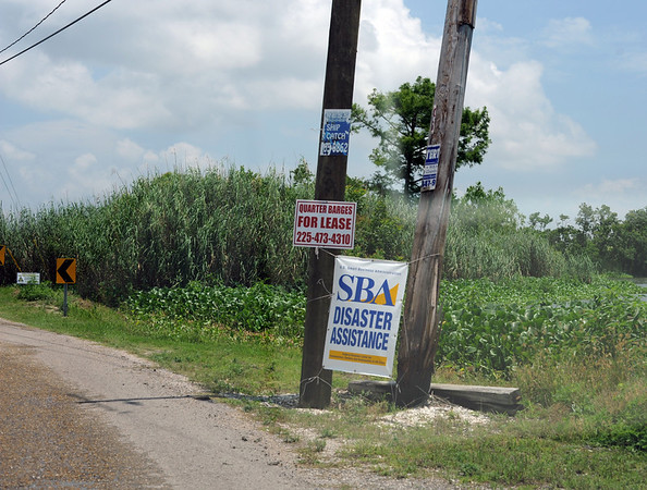 Disaster assistance sign, Plaquemines Parish.