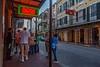 Dusk on Bourbon Street