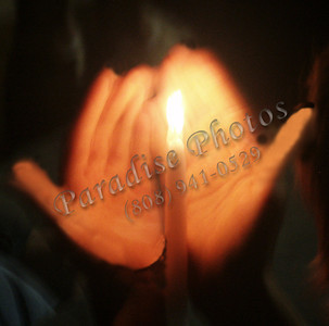 Candle in hands  St Bernadette Shirne