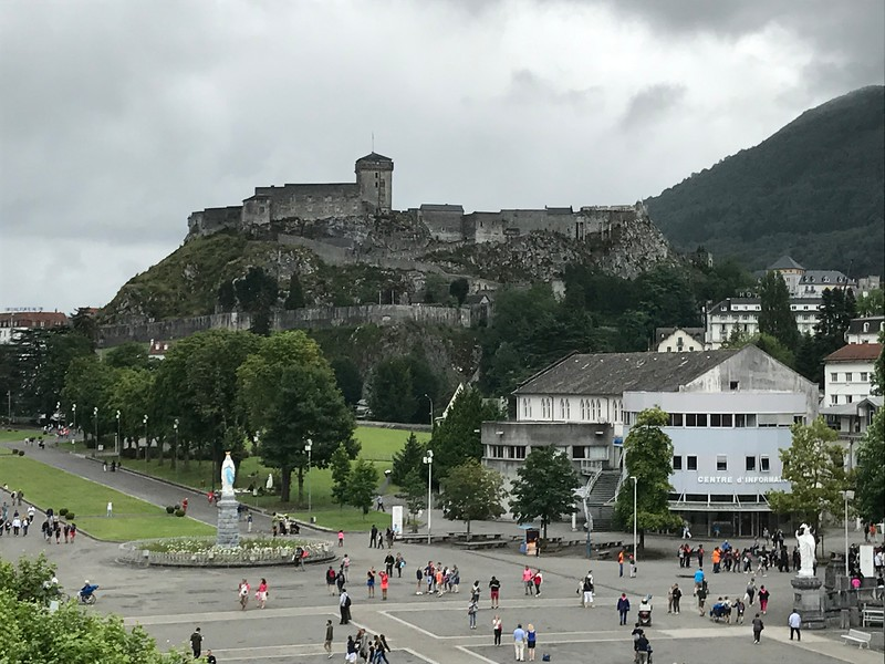 Old fort high above Lourdes