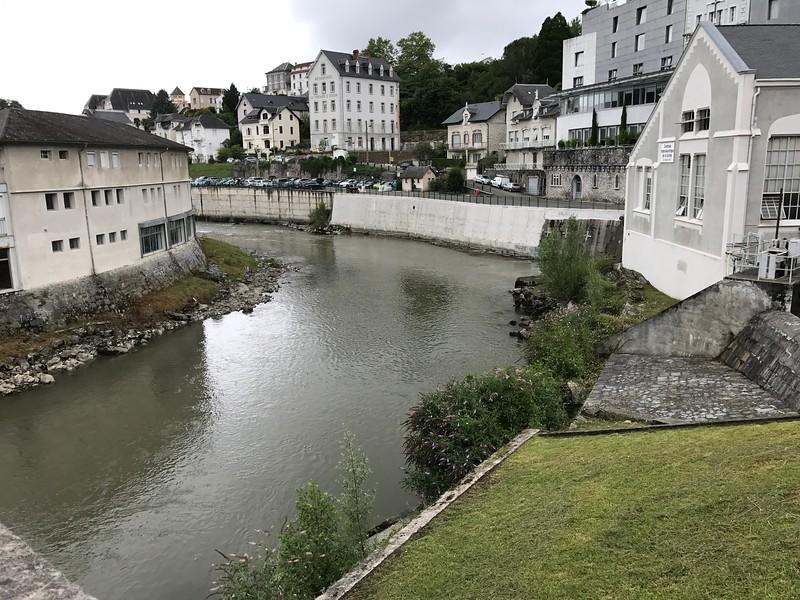 The river Gave de Pau in Lourdes