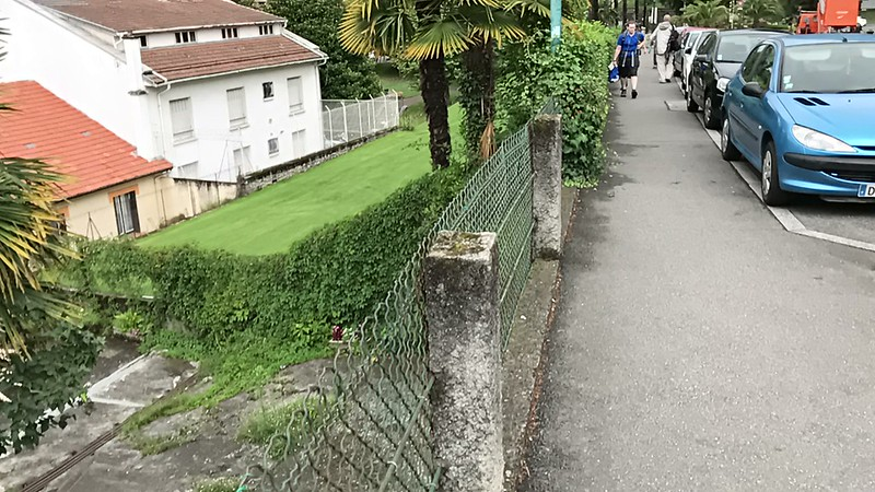Lourdes. A block from the train station headed towards the grotto