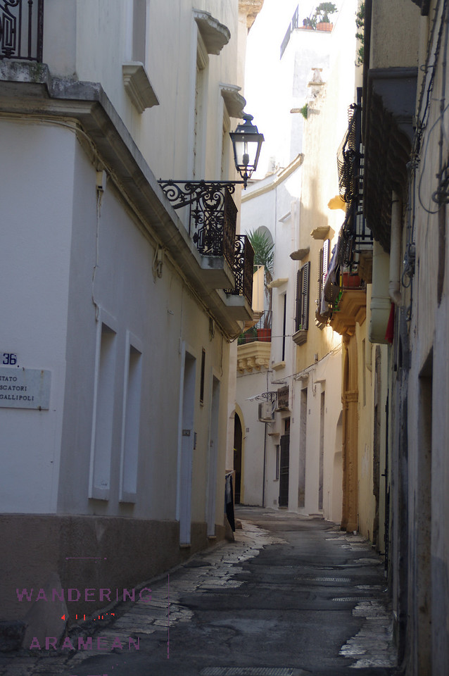Another small alleyway, this one in Gallipoli