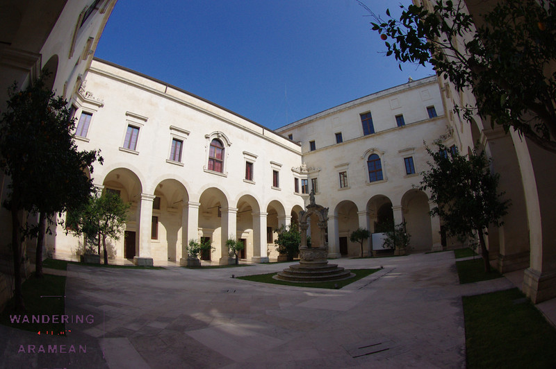 The courtyard of the Museo di Arte Sacra