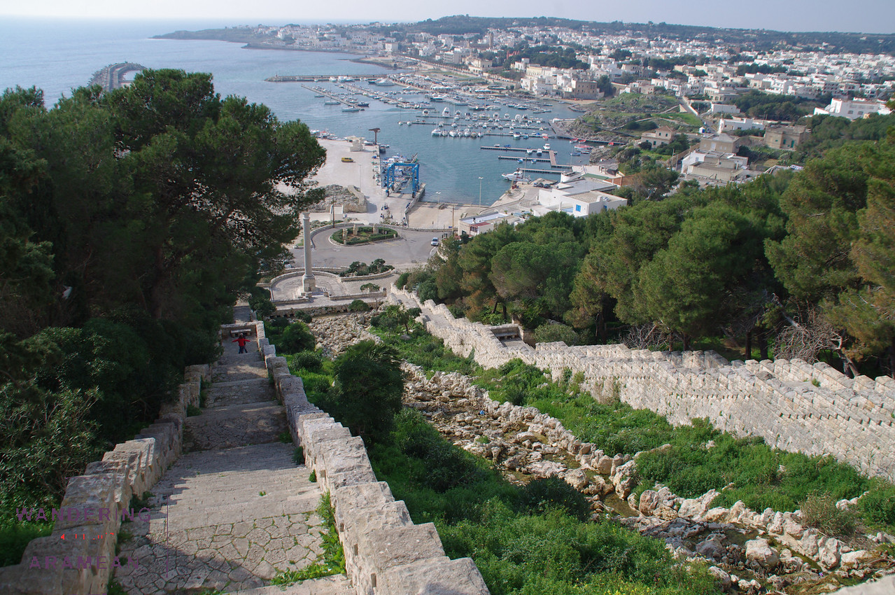 Looking down from atop Santa Maria di Leuca