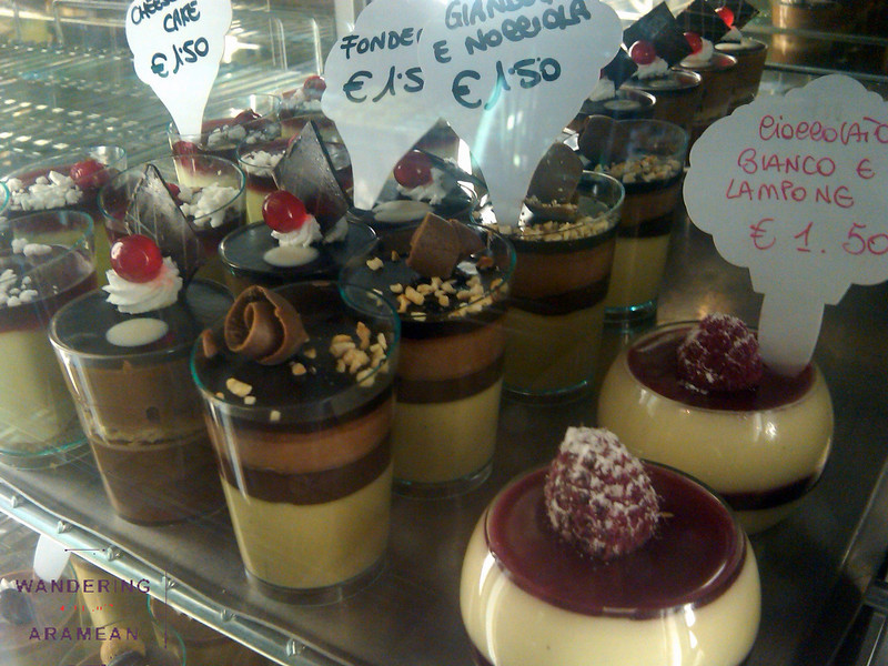Awesome desserts at Il Alvino in Lecce