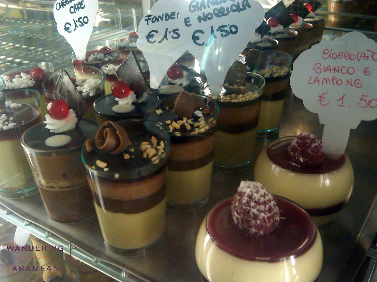 Awesome desserts at Il Alvino in Lecce