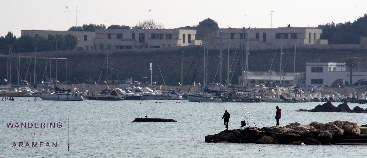 Fishermen along the coast