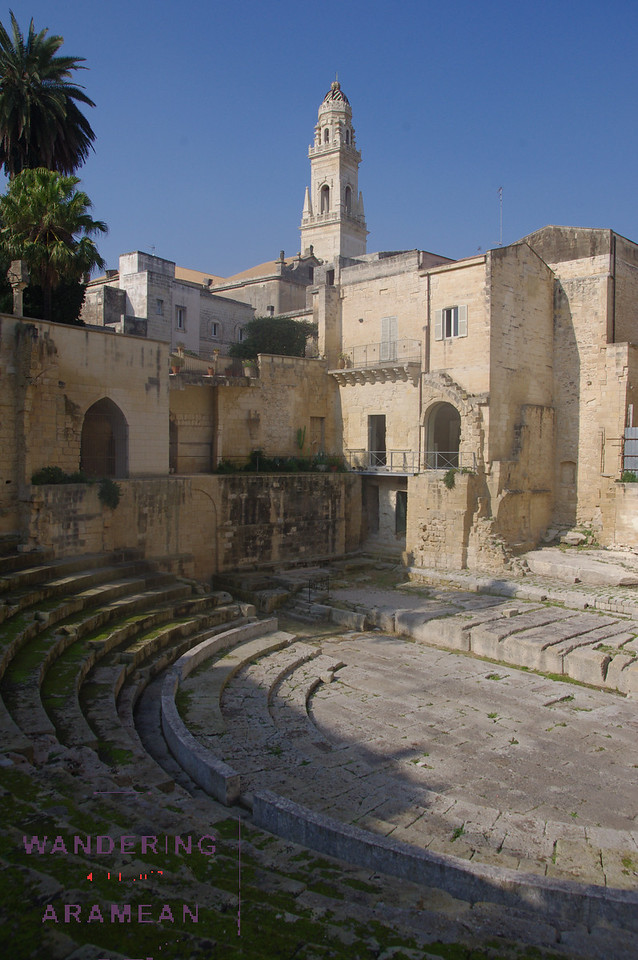 The seats in the ancient Museo Teatro Romano di Lecce