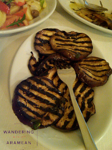 Grilled eggplant at Le Zie in Lecce, Italy