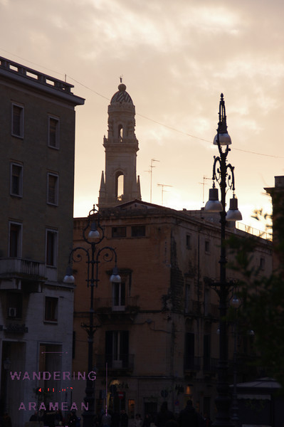 Sunset over Lecce