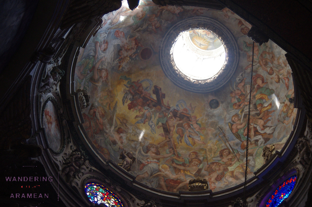 Awesome paintings on the ceiling