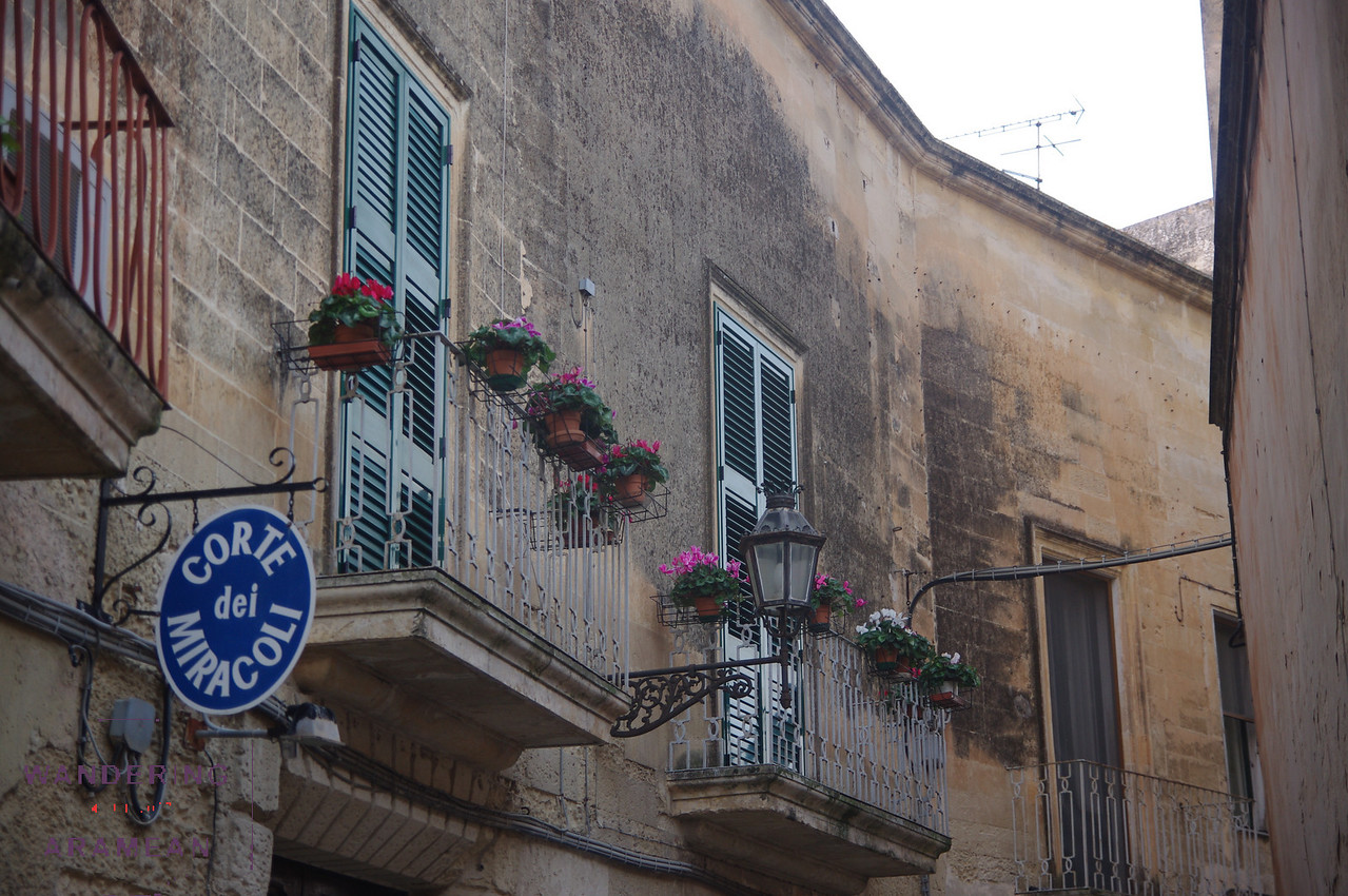 A small side street in Lecce