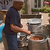 The gumbo man preparing his delectable concoction!