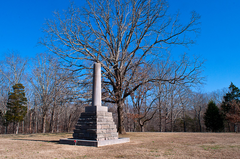 Captain Lewis is buried here nearby; whether he killed himself (two shots?) or was murdered was never clear. There were no eye witnesses and the only people nearby gave differing, unreliable accounts.<br /> <br /> Jefferson and William Clark who perhaps knew him best accepted the suicide account.<br /> <br /> But two gun shots?<br /> <br /> Several hundred of his collateral descendants are trying to the get the NPS to approve exhumation, but the park service is concerned about other adjacent burials.