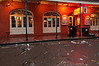 Bourbon Street; Monday morning; note that the sidewalks have already been power-scrubbed with soapy water.