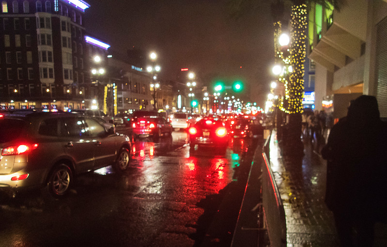 Canal Street in the rain