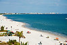 Another view of the Gulfside beach on the  island of Fort Myers Beach from the sixth floor rooftop bar of the Lani Kai