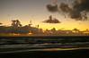 Ebbing tide, waning moon, pre-dawn sky; Winter Solstice, Gulfstream Park