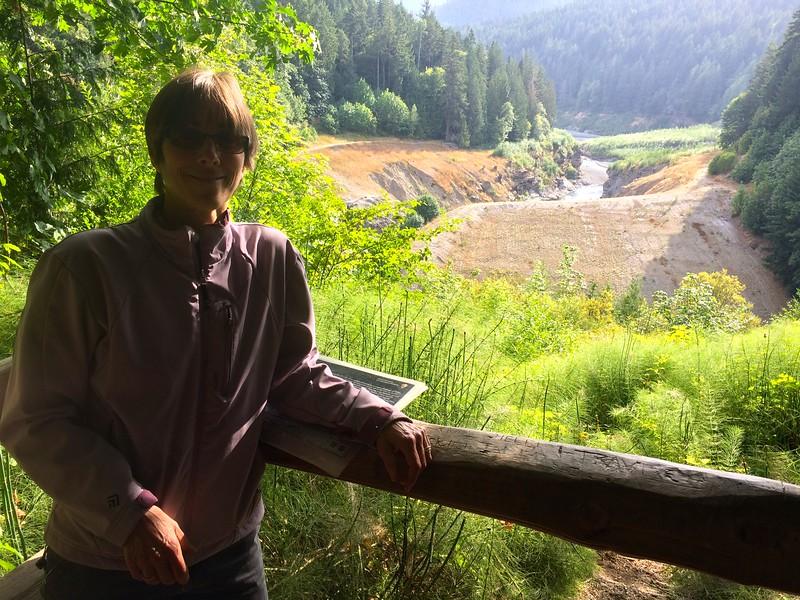 Former lakebed behind former dam