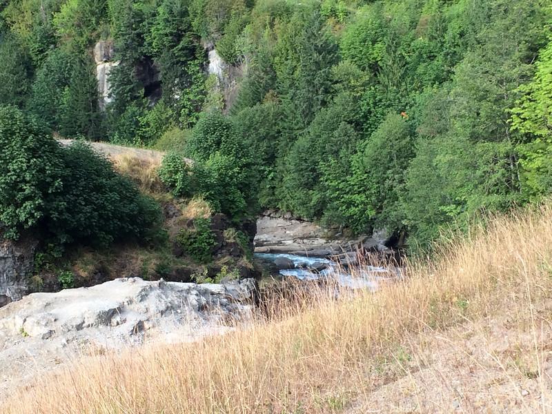 Elwha river below the missing dam