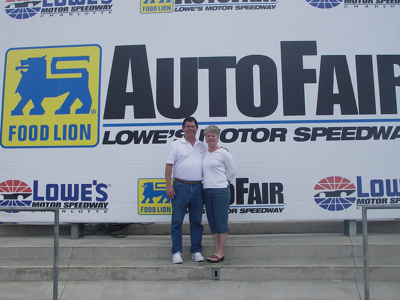 Ron & Lynda at Lowes Motor Speedway in North Carolina