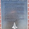 The William McCool memorial inscription.