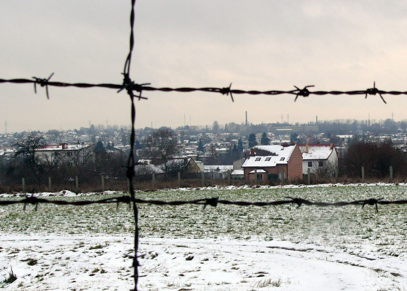 Pre-war houses were within sight and sound of the concentration camp