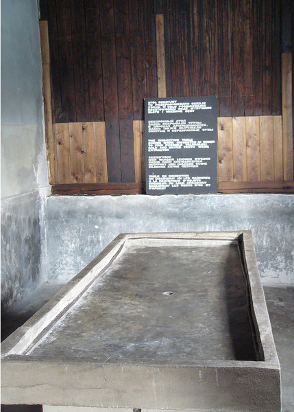 Dissection table for removing valuables from corpses at Majdanek