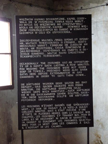Educational sign at Majdanek