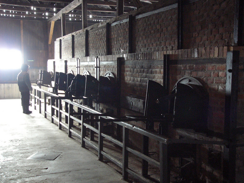 Crematorium at Majdanek. Not as large as those at Auschwitz, but liberated sooner and preserved from destruction