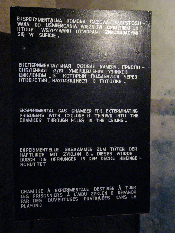 Educational sign at Majdanek