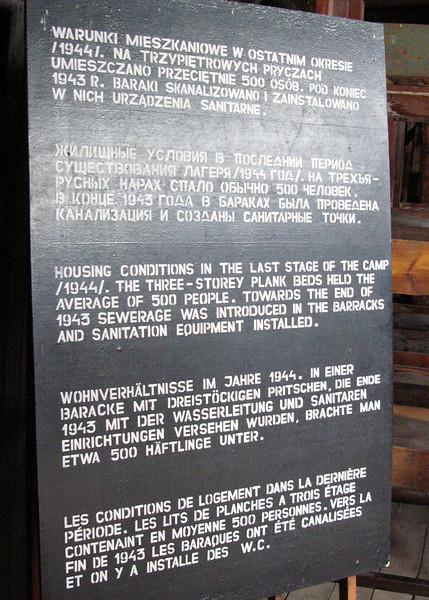 Instruction sign at Majdanek